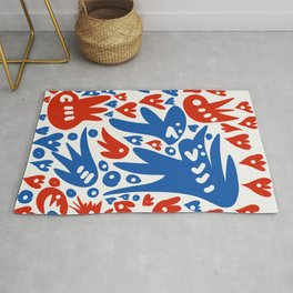 French Life Summer Art Abstract Rug