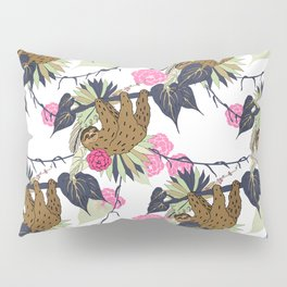 Sloth - Navy, Pink, Pistachio Pillow Sham