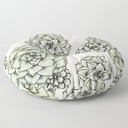 Rosette Succulents Floor Pillow