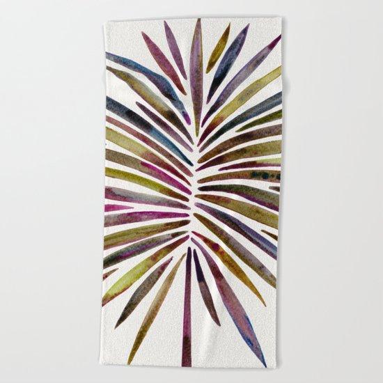 Tropical Fan Palm – Vintage Palette Beach Towel