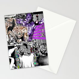 Death Grips glitch design Stationery Cards