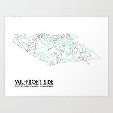 Vail, CO - Front Side - Minimalist Trail Map Art Print