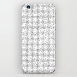 grid in black iPhone Skin