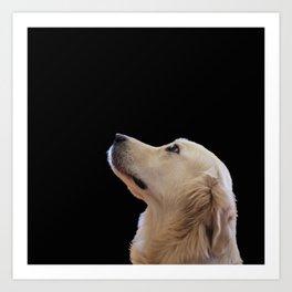 Man's Best Friend - Labrador Dog Portrait Art Print