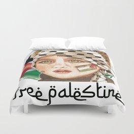 Free Palestine in watercolor Duvet Cover
