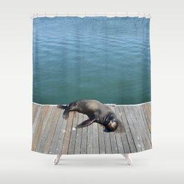 Sea Lion Smile Shower Curtain