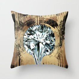 Diamant in Gold Throw Pillow