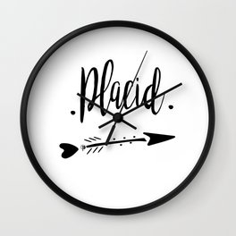 Placid Lettering-PM coll Wall Clock