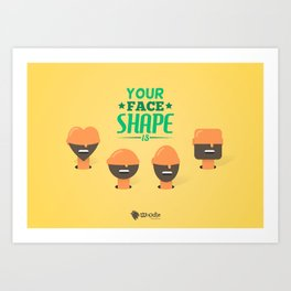 What's your Head Shape? Art Print