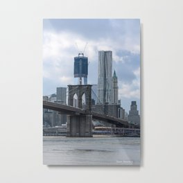 Freedom Tower Brooklyn Bridge 2012 Metal Print
