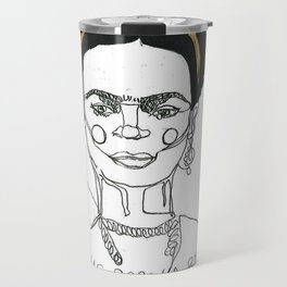 Frida Khalo 'I Was Born a Bitch, I Was Born a Painter'  Travel Mug