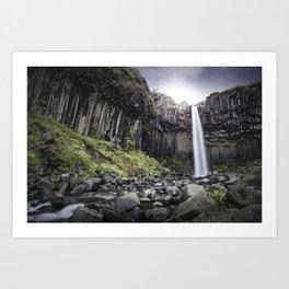 Svartifoss Waterfall Art Print
