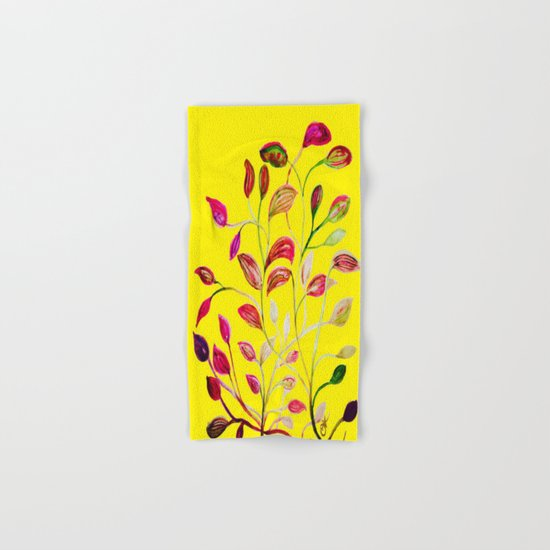 Red and Green Leaves! Yellow Sunshine! Hand & Bath Towel