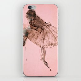 Edgar Degas - Study of a ballet dancer (new color editing) iPhone Skin