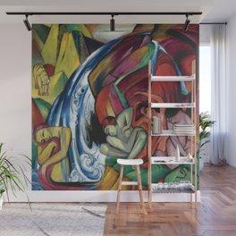 "Franz Marc ""The Waterfall"" Wall Mural"