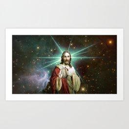 Tambourine Jesus Art Print