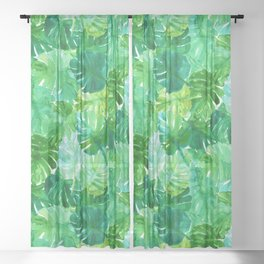Welcome to the Jungle Palm Sheer Curtain