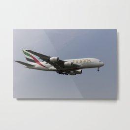 Emirates A380 Airbus Metal Print