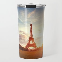 Sunset Eiffel Tower Travel Mug