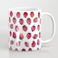 strawberry Mugs featuring Strawberry by Tanya_Vazh