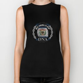 West Virginia Its In My DNA West Virginian Flag Biker Tank