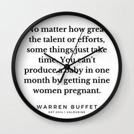 9  | Warren Buffett Quotes | 190823 Wall Clock