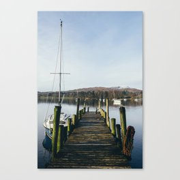 Boats on Lake Windermere at Waterhead. Cumbria, UK. Canvas Print