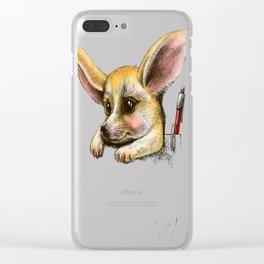 Pocket fennec fox Clear iPhone Case
