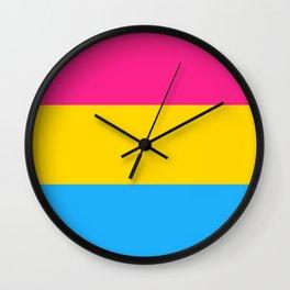 PANSEXUAL FLAG Wall Clock