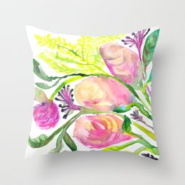 Conceited Floral Throw Pillow