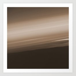 Sepia Brown Ombre Art Print