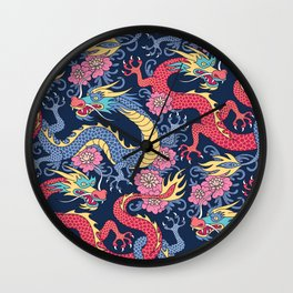 East Dragons Wall Clock