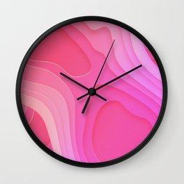 Geographic Bubblegum Field Wall Clock