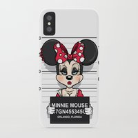 minnie mouse iPhone & iPod Cases featuring Bad Guys / Minnie Mouse by mebz art