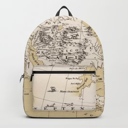 Vintage Map of North America in 1670 (1889) Backpack