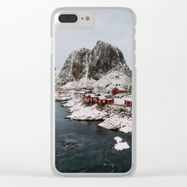 Winter in Hamnøy, Norway Clear iPhone Case
