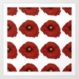 I Adore Poppies Art Print