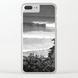 """Surfing """"GOD'S POV"""" Clear iPhone Case"""