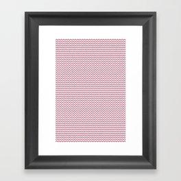 Chevron Rose Framed Art Print