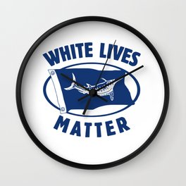 White Marlin Lives Matter Wall Clock