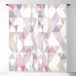 Modern abstract geometrical pastel tones watercolor Blackout Curtain