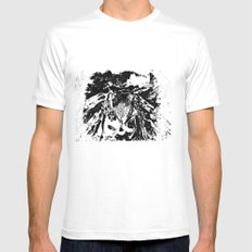 Moth MEDIUM White Mens Fitted Tee