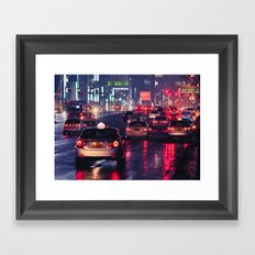 Taxi City Framed Art Print