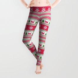 Cute Cat Christmas Pattern Leggings