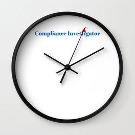 Compliance Investigator Ninja in Action Wall Clock