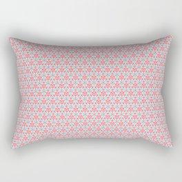 Arrows Pattern - Pink and light blue Rectangular Pillow