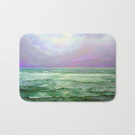 Wave Meditation by Amanda Martinson Bath Mat