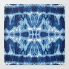 Tie Dye Blues Twos Canvas Print