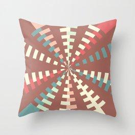 Dashed vortex Throw Pillow
