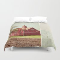 american beauty Duvet Covers featuring Lucky Star by Farmhouse Chic